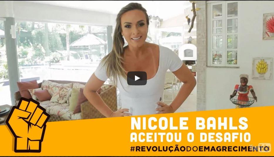 nicole bahls desafio revolução do emagrecimento queima de 48 horas
