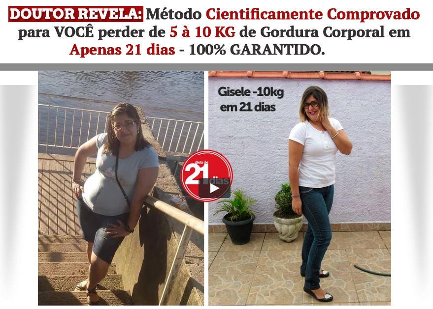 Gisele perdeu 10 quilos em 21 dias